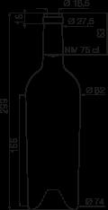 bouteille bordelaise conique 75 cl 600g bouteilles bordelaises standard goe service. Black Bedroom Furniture Sets. Home Design Ideas