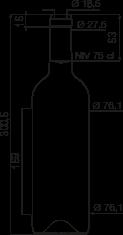bouteille bordelaise reference l g 75 cl 460g bouteilles bordelaises standard goe service. Black Bedroom Furniture Sets. Home Design Ideas