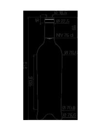photo bouteille de vin hauteur