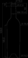 bouteille bordelaise elite ii 75 cl 810g bouteilles bordelaises sp ciales goe service. Black Bedroom Furniture Sets. Home Design Ideas